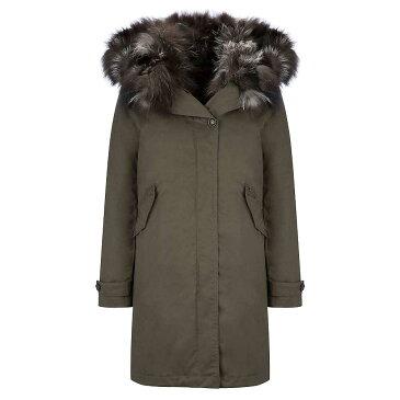 ジョンリッチ アンド ブロス レディース アウター コート【Woolrich John Rich & Bros. Literary Patch Fox Eskimo Coat】Military Olive