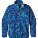 パタゴニア レディース トップス スウェット・トレーナー【Patagonia Lightweight Synchilla Snap-T Pullover】Leaping / Oasis Blue