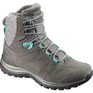 サロモン レディース ハイキング・登山 シューズ・靴【Salomon Ellipse Winter GTX Boot】Castor Gray / Beluga / Biscay Green