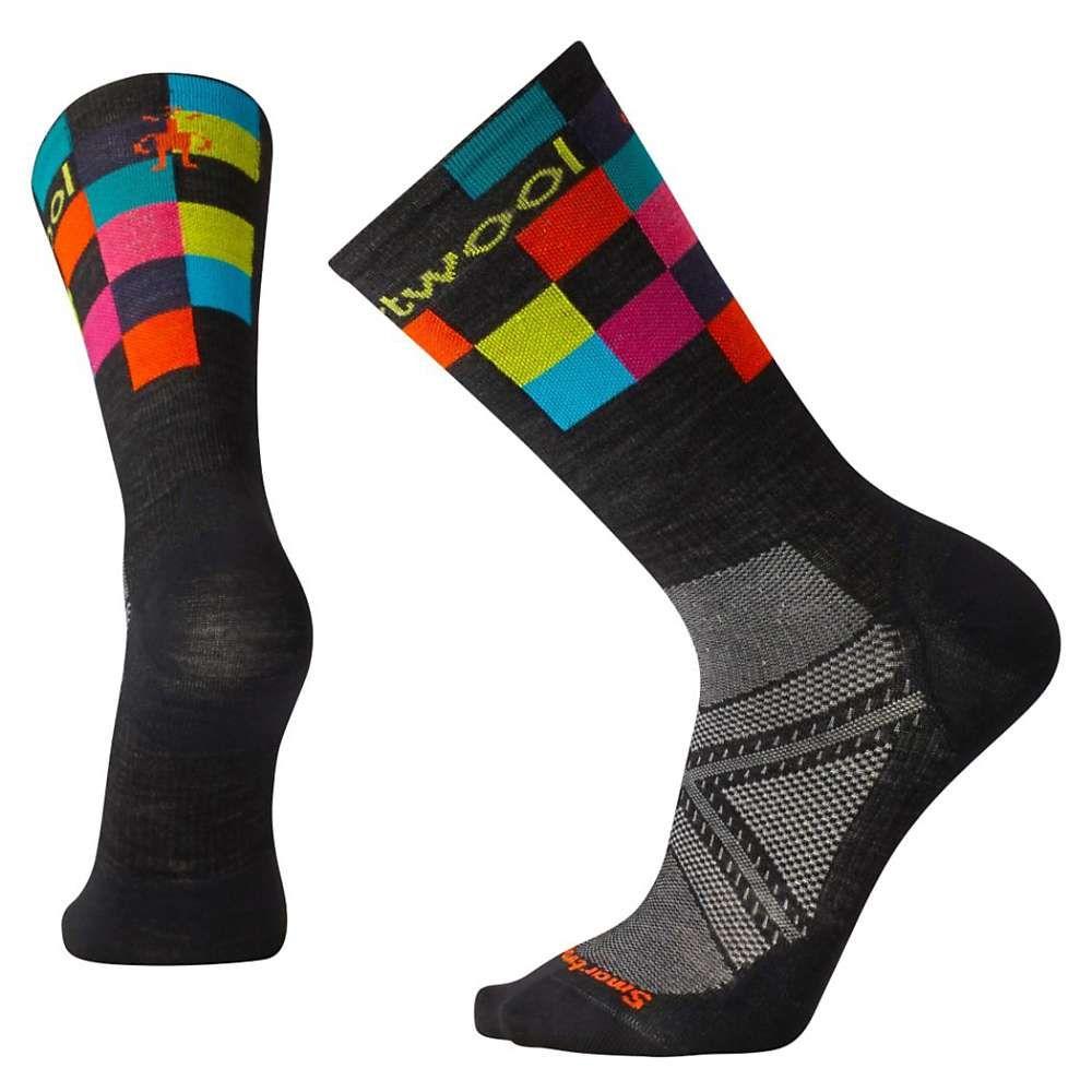スマートウール ユニセックス 自転車【PhD Cycle Ultra Light Logo Crew Sock】Black