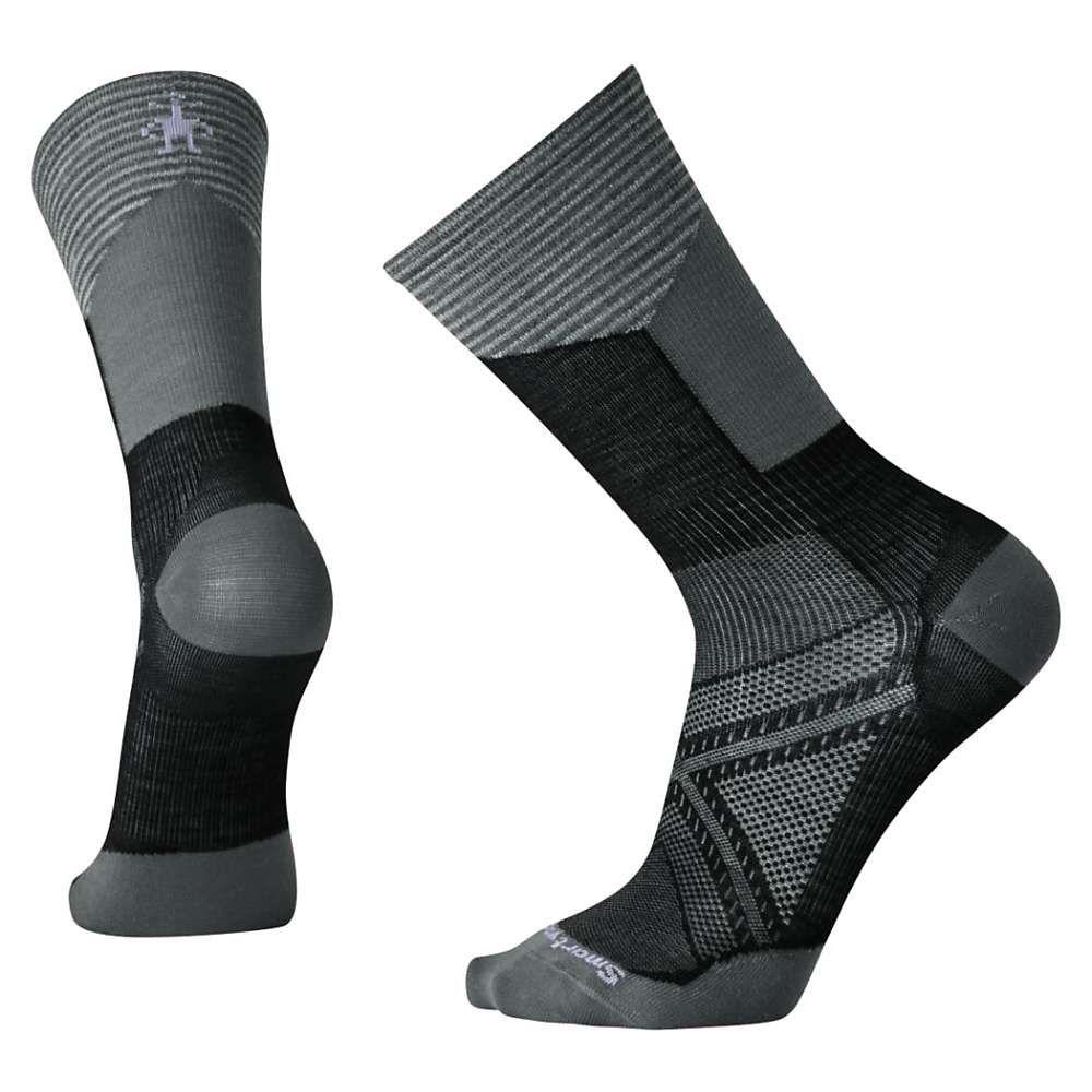 スマートウール ユニセックス 自転車【PhD Cycle Ultra Light Pattern Crew Sock】Black