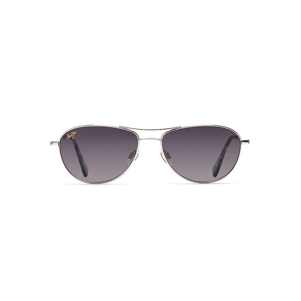 マウイジム メンズ アクセサリー メガネ・サングラス【Maui Jim Baby Beach Polarized Sunglasses】Silver / Neutral Grey:フェルマート