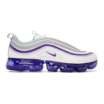 ナイキ メンズ シューズ・靴 スニーカー【White & Purple Air Vapormax 97 Sneakers】