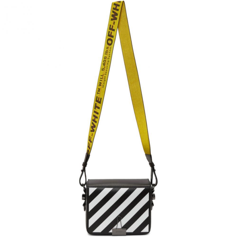 176efb950b22 オフ-ホワイト レディース バッグ ショルダーバッグ【Black Diagonal Flap Bag】 オフ-ホワイト レディース バッグ  ショルダーバッグ 【サイズ交換無料】