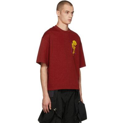297fe859 オールモストブラック メンズ トップス Tシャツ【Red Flower T-Shirt ...