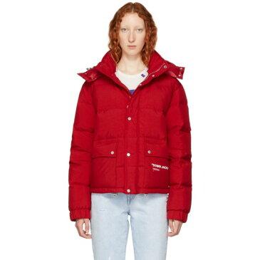 オフ-ホワイト Off-White レディース アウター ダウンジャケット【Red Down Quote Puffer Jacket】
