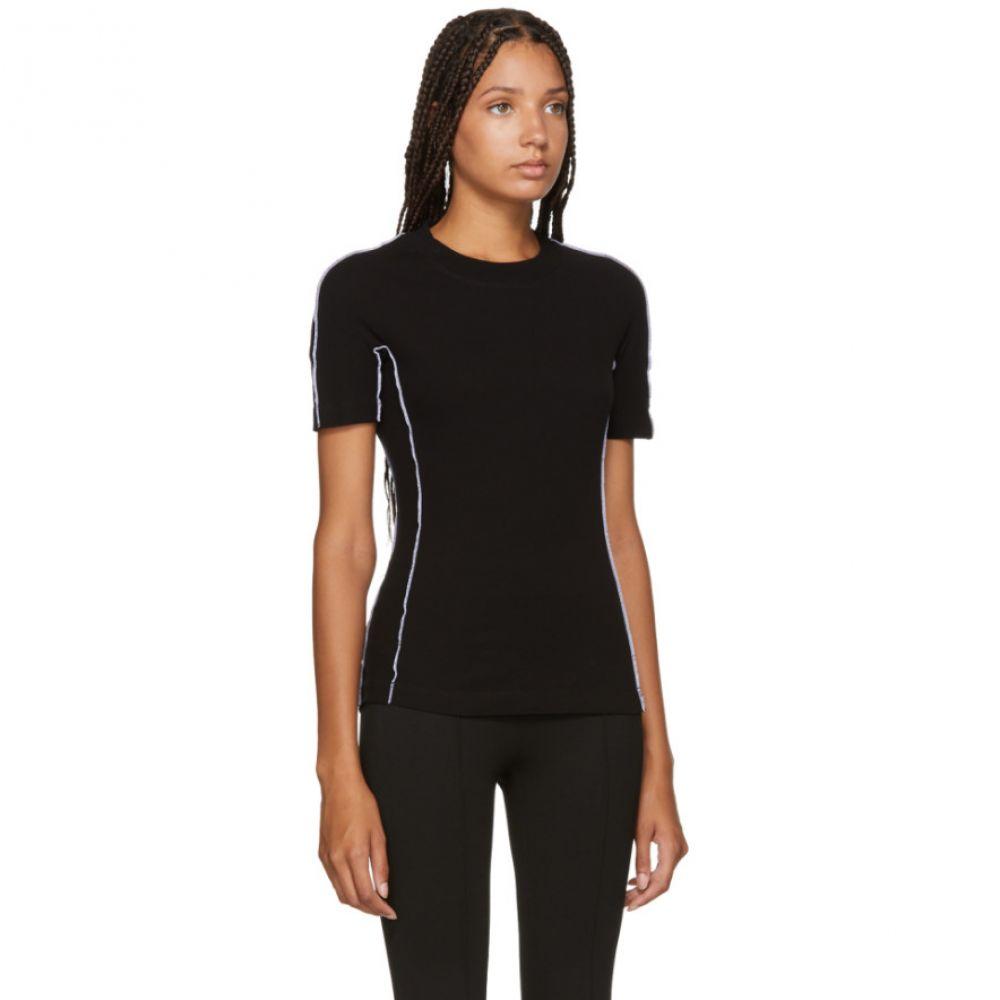 ロゼッタゲティー Rosetta Getty レディース トップス Tシャツ【Black Jersey Reversed T-Shirt】