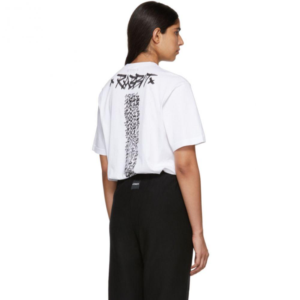 ヴェトモン Vetements レディース トップス Tシャツ【White Rabbit Chinese Zodiac T-Shirt】