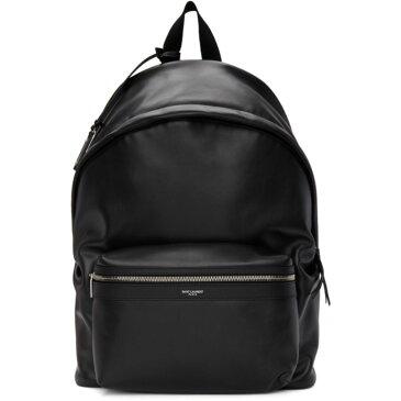 イヴ サンローラン Saint Laurent メンズ バッグ バックパック・リュック【Black Leather City Backpack】