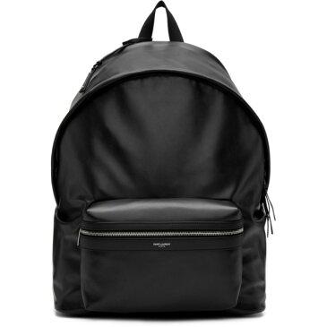 イヴ サンローラン Saint Laurent メンズ バッグ バックパック・リュック【Black Leather Giant City Backpack】