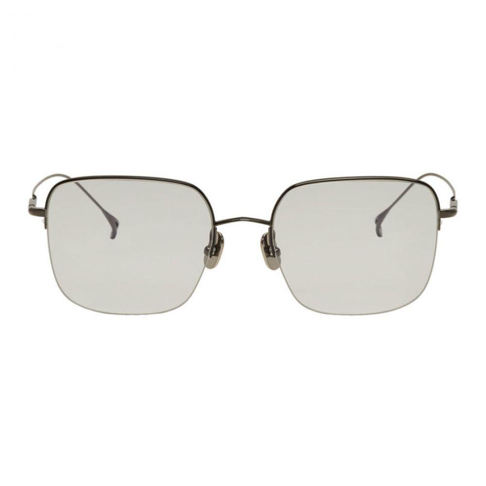 イッセイ ミヤケ Issey Miyake Men メンズ メガネ・サングラス【Gunmetal & Black Square V Sunglasses】