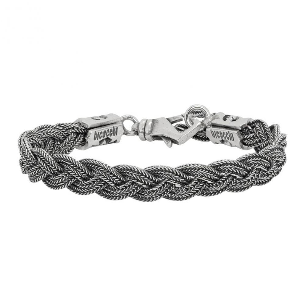 エマニュエレ ビコッキ Emanuele Bicocchi メンズ ジュエリー・アクセサリー ブレスレット【Silver 6-Thread Braided Bracelet】