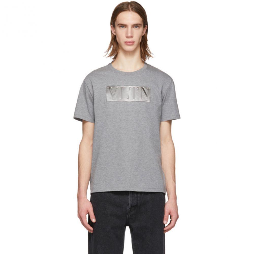 ヴァレンティノ Valentino メンズ トップス Tシャツ【Grey & Silver 'VLTN' T-Shirt】
