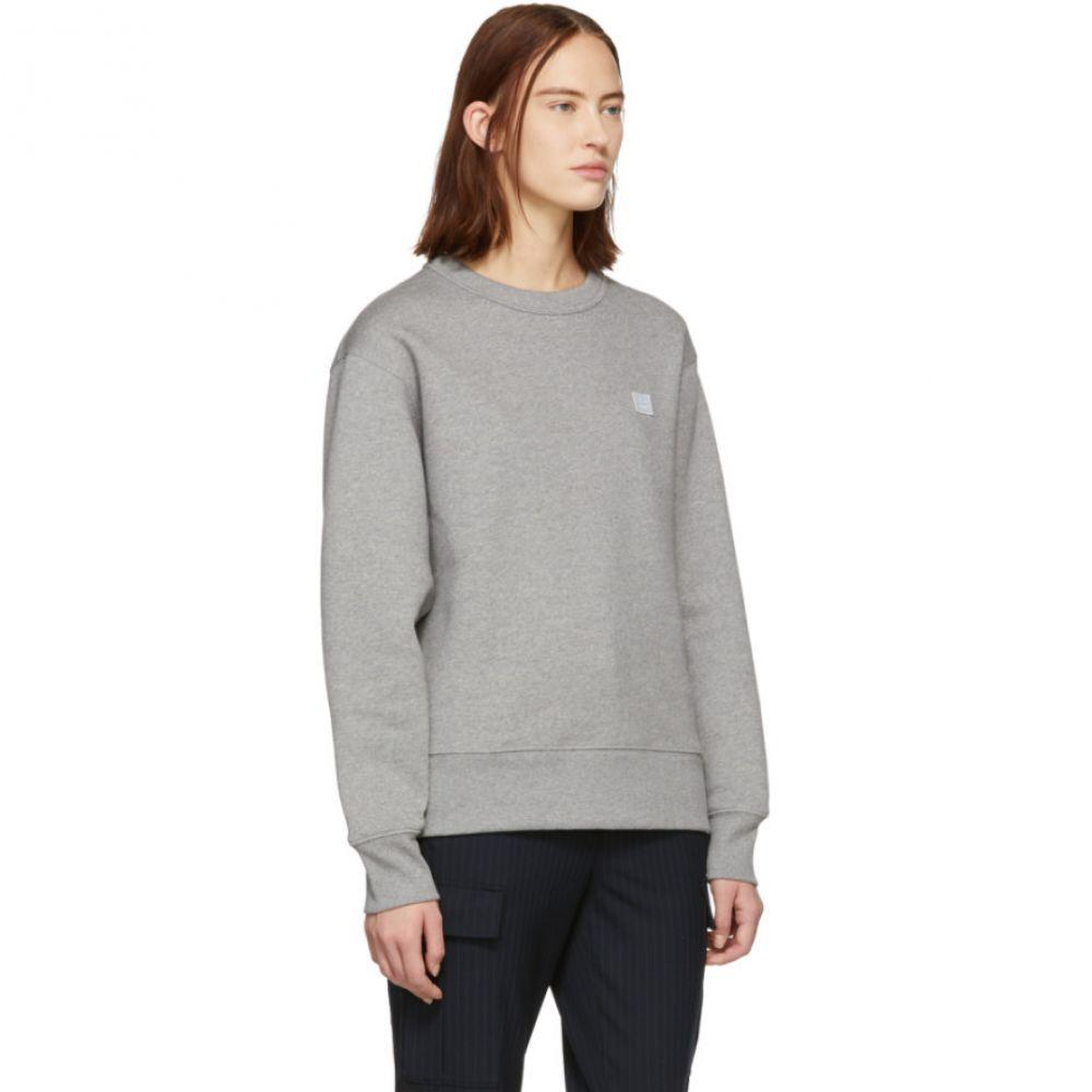 アクネ ストゥディオズ Acne Studios レディース トップス スウェット・トレーナー【Grey Oversized Fairview Face Sweatshirt】