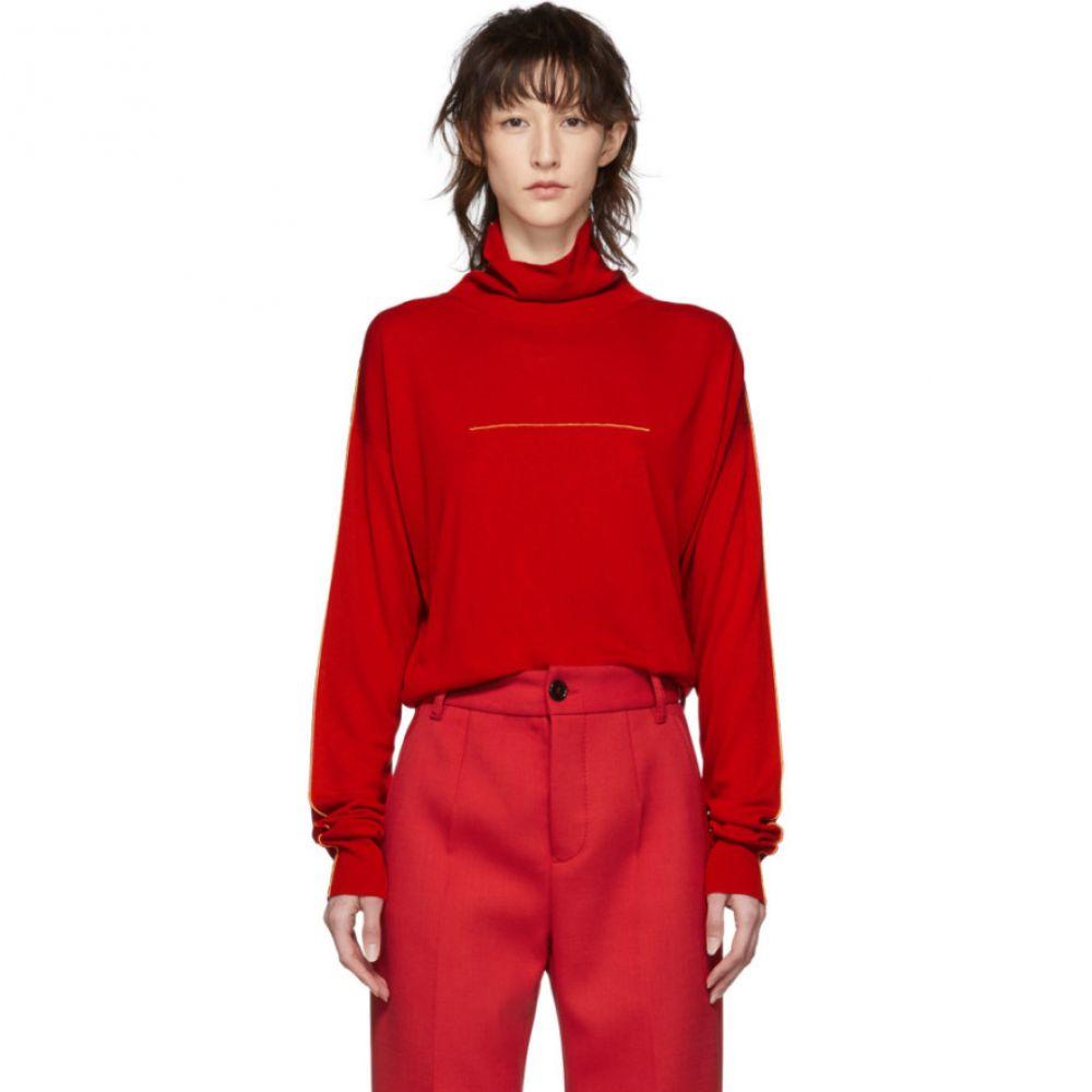 メゾン マルジェラ MM6 Maison Margiela レディース トップス ニット・セーター【Red Jersey Turtleneck】
