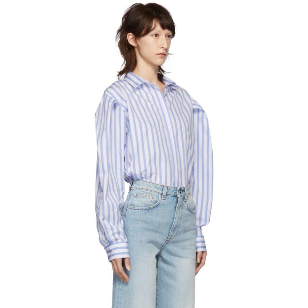 トーテム Toteme レディース トップス ブラウス・シャツ【Blue & White Stripe Priola Shirt】