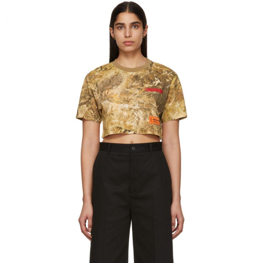 ヘロン プレストン Heron Preston レディース トップス ベアトップ・チューブトップ・クロップド【Brown Camouflage Crop T-Shirt】