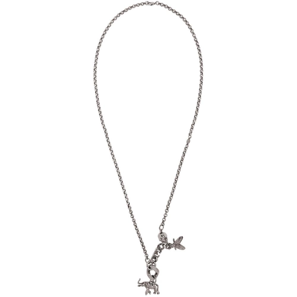 アレキサンダー マックイーン Alexander McQueen メンズ アクセサリー ネックレス【Silver Elephant & Fly Necklace】