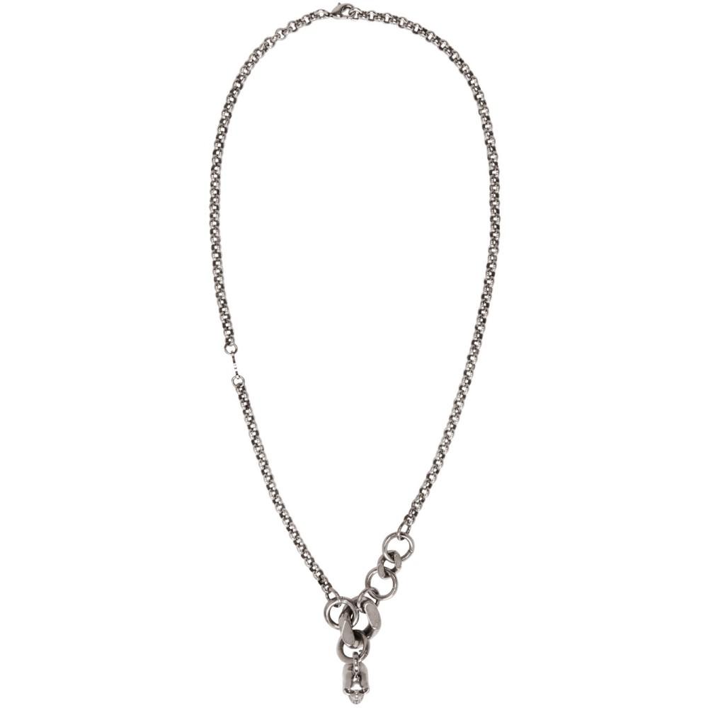 アレキサンダー マックイーン Alexander McQueen メンズ アクセサリー ネックレス【Silver Skull Chain Necklace】