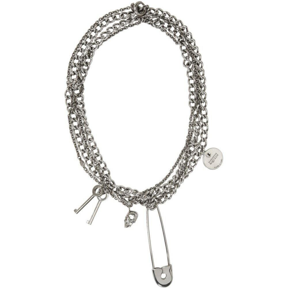 アレキサンダー マックイーン Alexander McQueen メンズ アクセサリー ネックレス【Silver Pin & Skull Necklace】