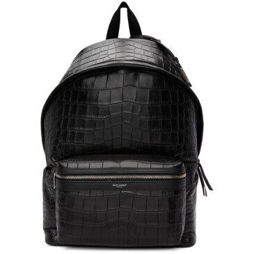 イヴ サンローラン Saint Laurent メンズ バッグ バックパック・リュック【Black Croc City Backpack】
