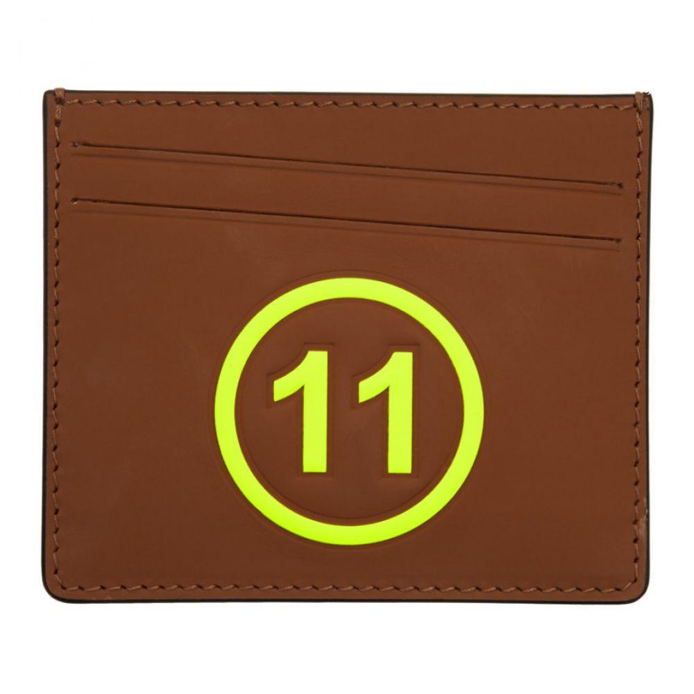e69ca6359fcc メゾン マルジェラ Maison Margiela メンズ カードケース·名刺入れ【Brown & Yellow '11' Card Holder】 メゾン  マルジェラ メンズ 財布·時計·雑貨 カードケース·名刺 ...