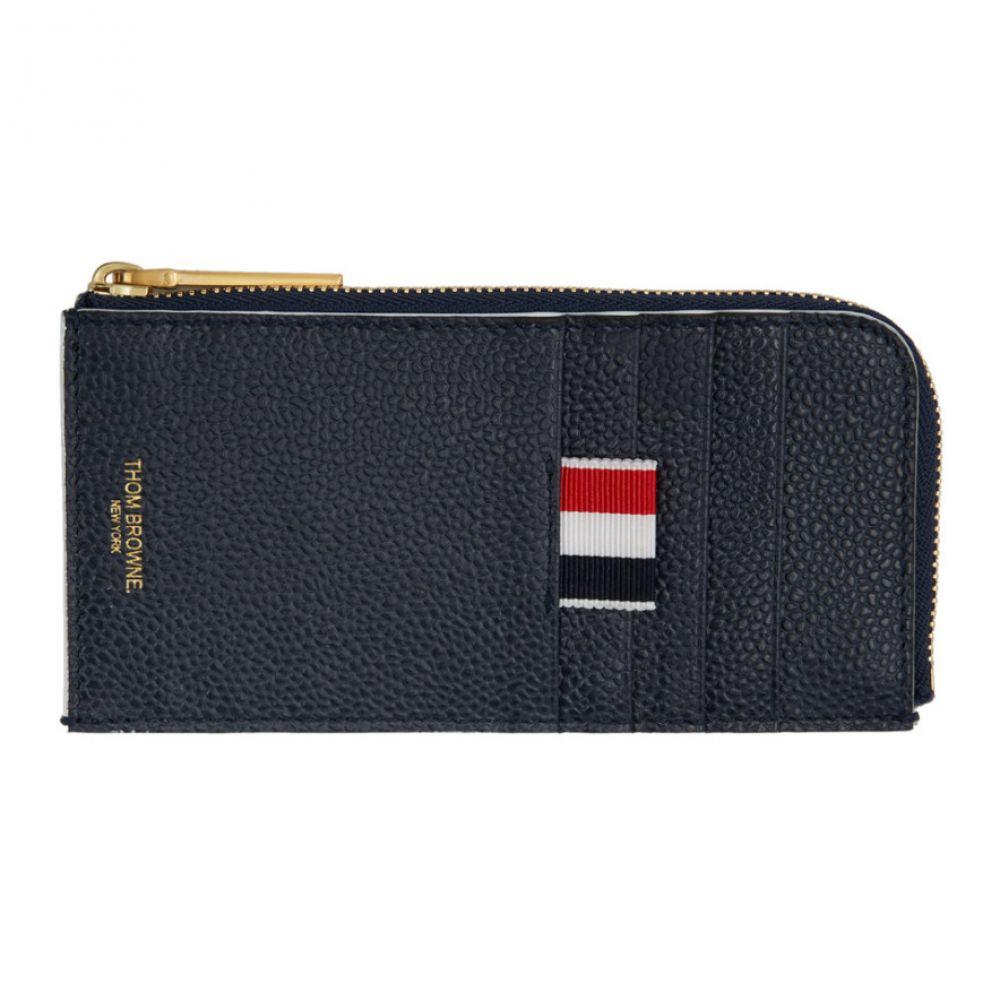 effe6afecf82 トム ブラウン Thom Browne メンズ カードケース·名刺入れ【Navy Half-Zip Around Card Holder】 トム  ブラウン メンズ 財布·時計·雑貨 カードケース·名刺入れ ...