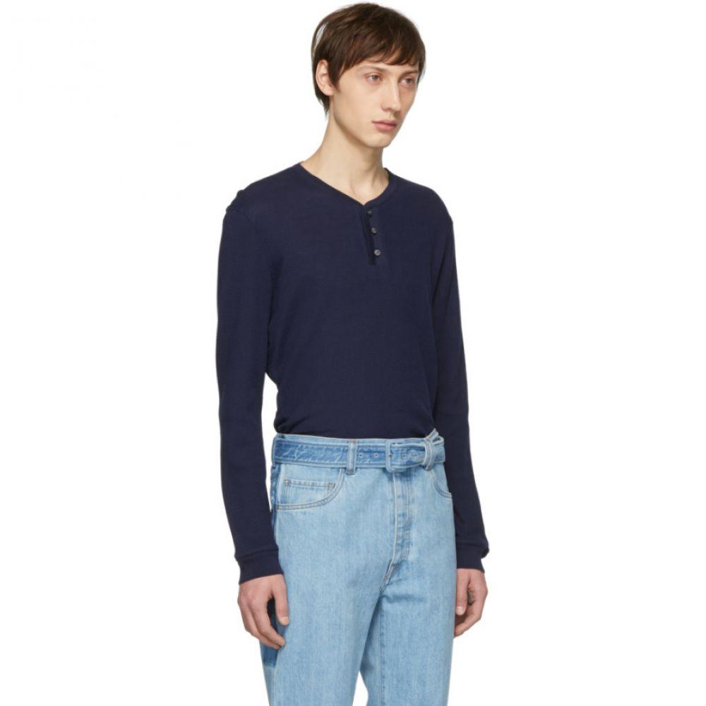 ブリオーニ Brioni メンズ トップス 長袖Tシャツ【Blue Seraph Henley】
