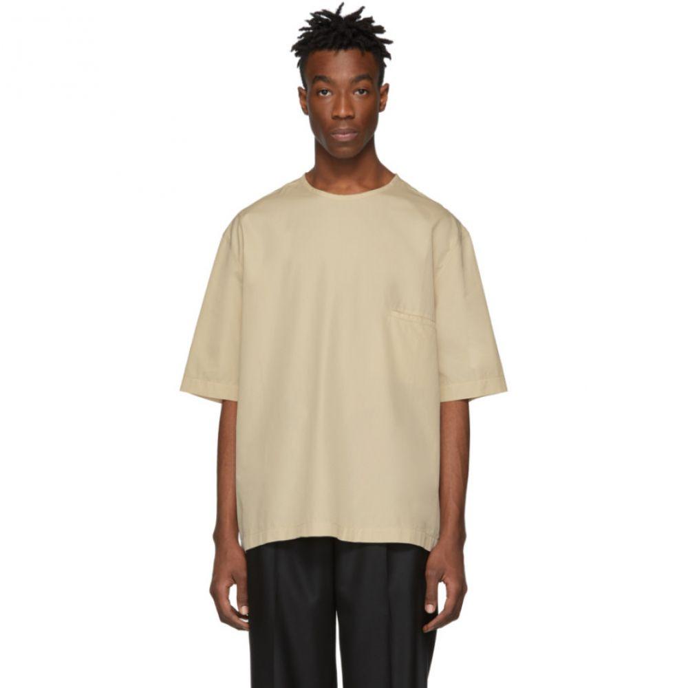 ルメール Lemaire メンズ トップス Tシャツ【Beige Poplin T-Shirt】