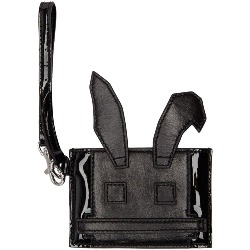 アレキサンダー マックイーン McQ Alexander McQueen レディース アクセサリー カードケース【Black Electro Bunny Card Holder】