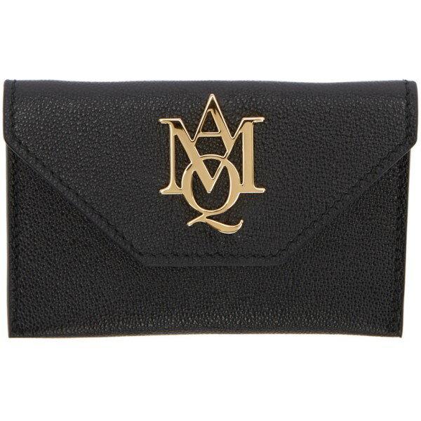 アレキサンダー マックイーン Alexander McQueen レディース アクセサリー カードケース【Black Insignia Envelope Card Holder】