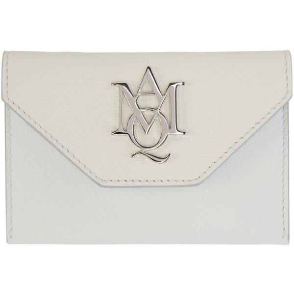 アレキサンダー マックイーン Alexander McQueen レディース アクセサリー カードケース【Ivory Insignia Envelope Card Holder】