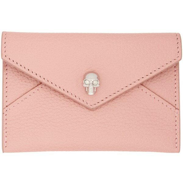 アレキサンダー マックイーン Alexander McQueen レディース アクセサリー カードケース【Pink Skull Envelope Card Holder】