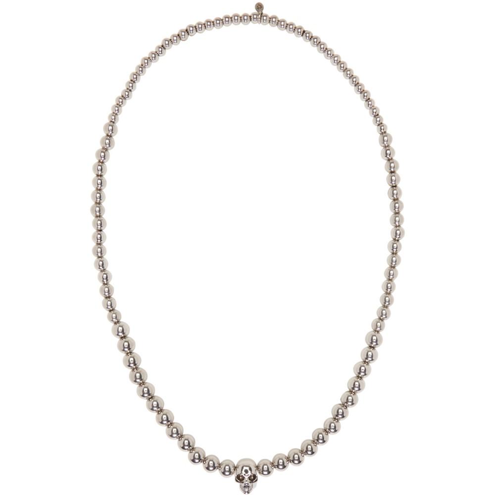 アレキサンダー マックイーン Alexander McQueen メンズ アクセサリー ネックレス【Silver Skull Ball Beaded Necklace】