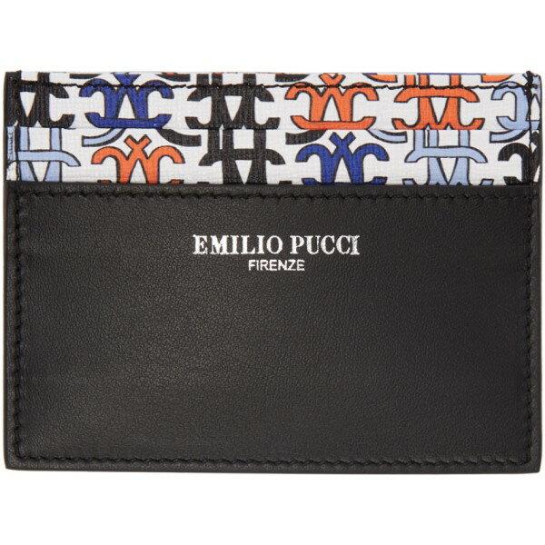エミリオ プッチ Emilio Pucci レディース アクセサリー カードケース【Black Logo Card Holder】