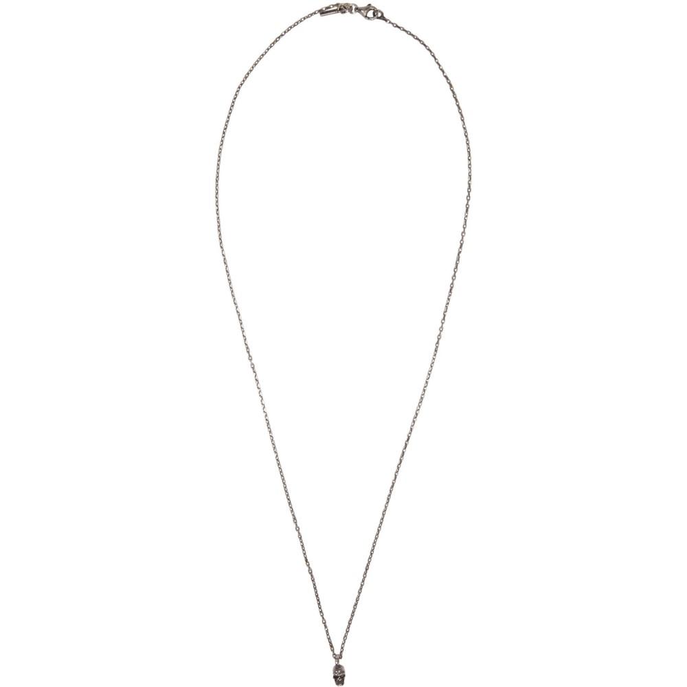 エマニュエレ ビコッキ Emanuele Bicocchi メンズ アクセサリー ネックレス【Silver Little Skull Necklace】