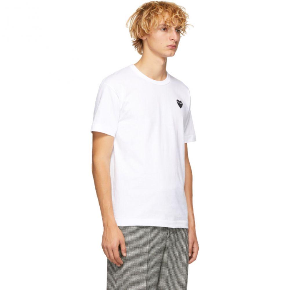 コム デ ギャルソン Comme des Gar?ons Play メンズ トップス Tシャツ【White & Black Heart Patch T-Shirt】