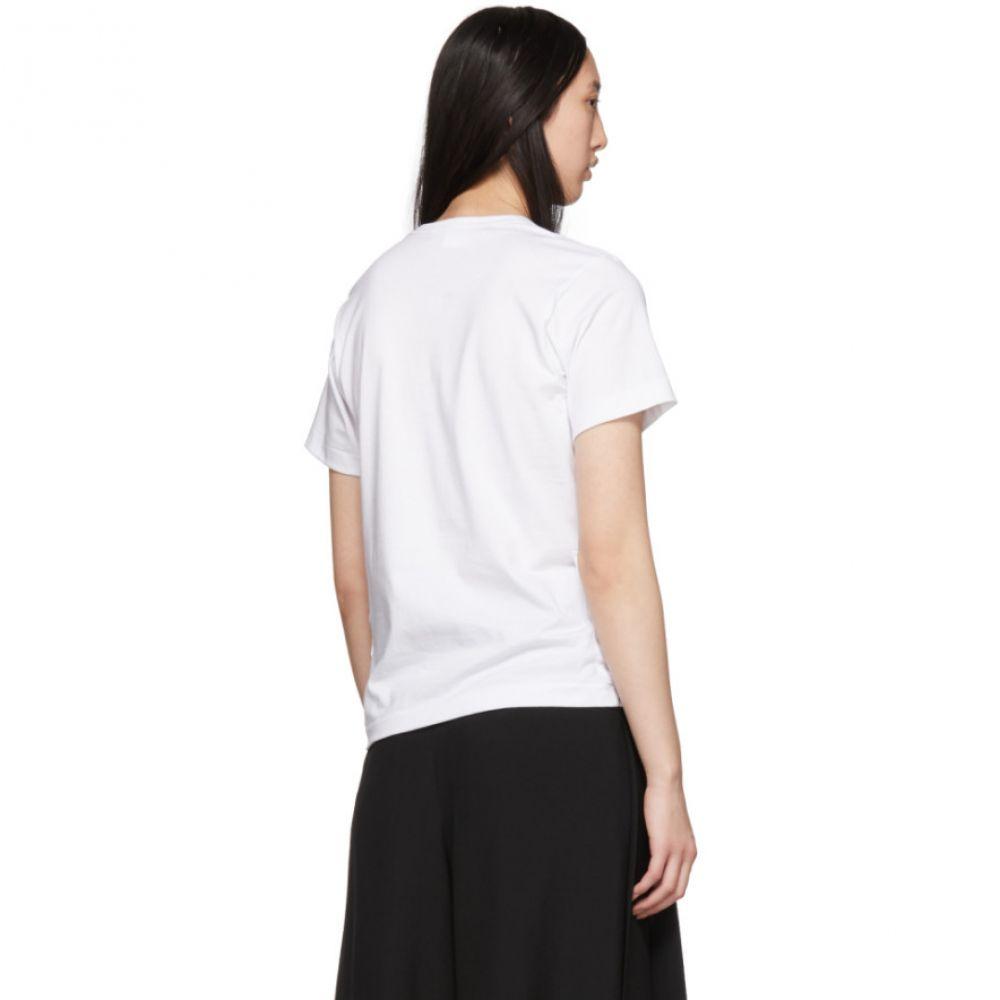 コム デ ギャルソン Comme des Garcons Wallets レディース トップス Tシャツ【White Four-Pocket T-Shirt】