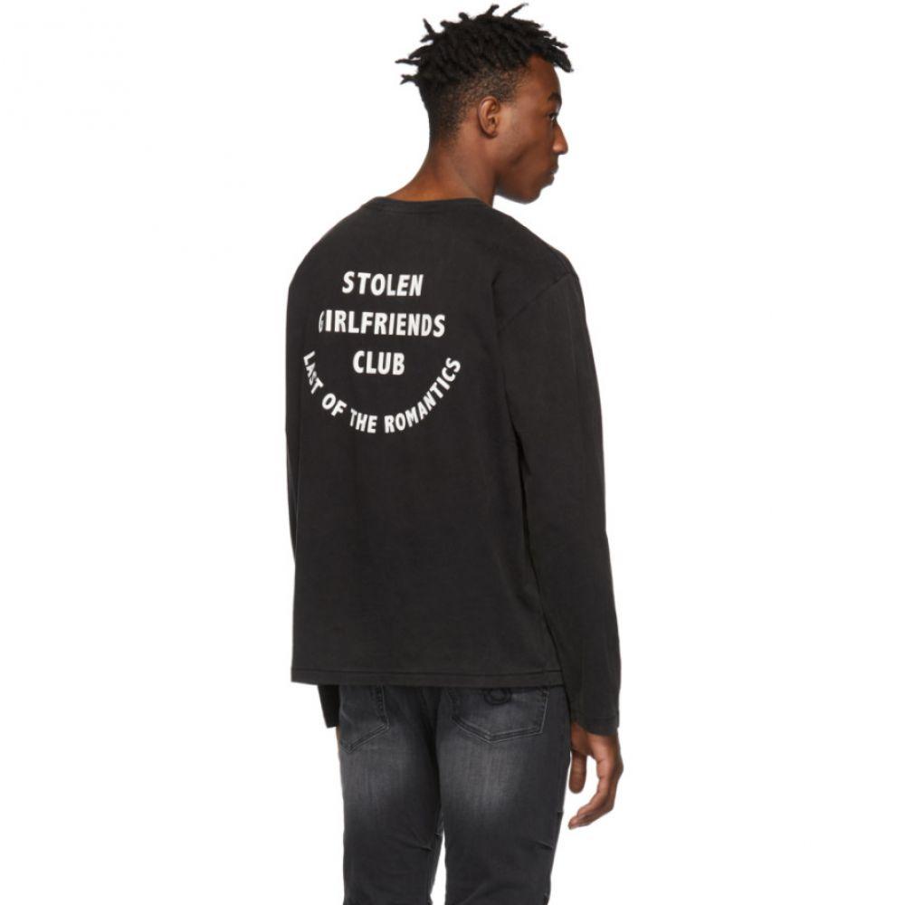 ストールン ガールフレンド クラブ Stolen Girlfriends Club メンズ トップス 長袖Tシャツ【Black 'Last Of The Romantics' Long Sleeve T-Shirt】