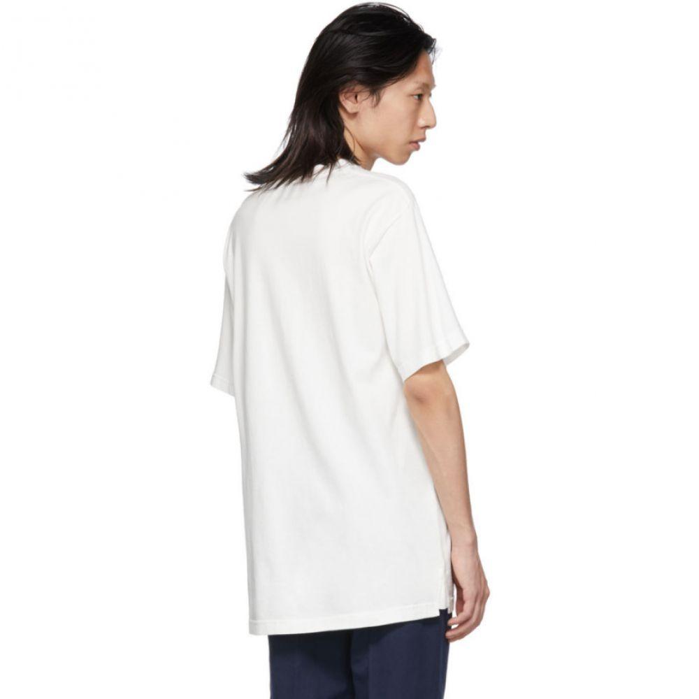 チャイルド CHILDS メンズ トップス Tシャツ【White Embroidered Clean T-Shirt】