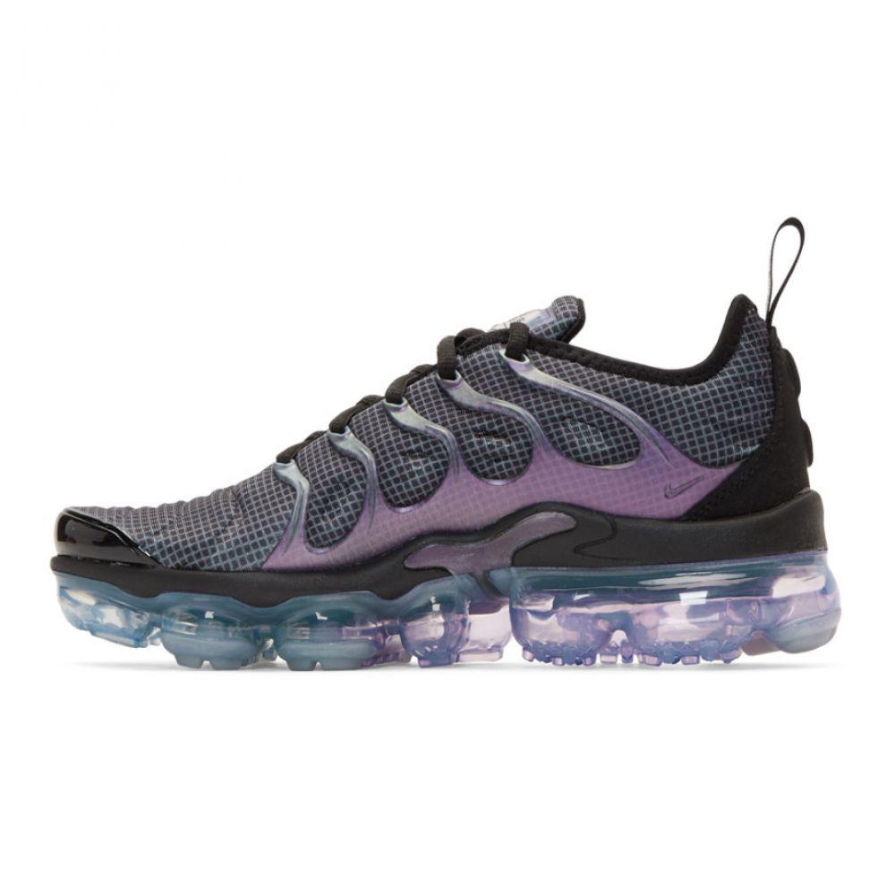ナイキ Nike レディース シューズ・靴 スニーカー【Black & Purple Air Vapormax Plus Sneakers】