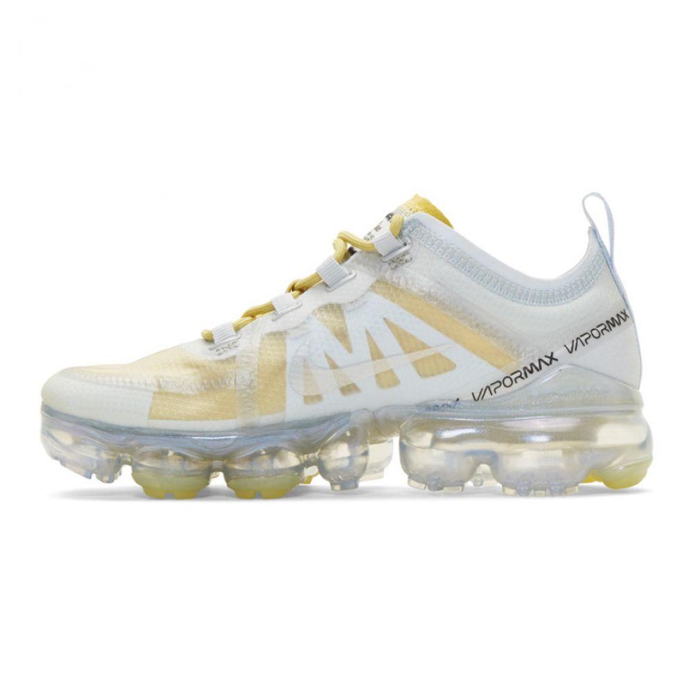 ナイキ Nike レディース シューズ・靴 スニーカー【Silver & Yellow Air Vapormax 2019 Sneakers】