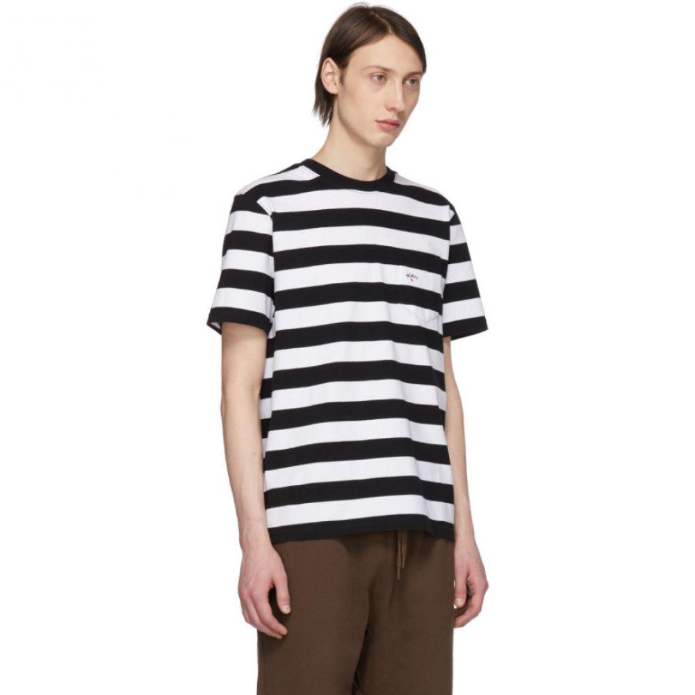 ノア Noah NYC メンズ トップス Tシャツ【Black & White Stripe Pocket T-Shirt】