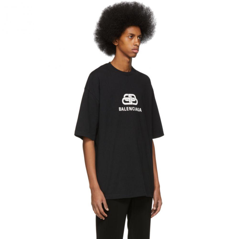 バレンシアガ Balenciaga メンズ トップス Tシャツ【Black 'BB ' Regular Fit T-Shirt】