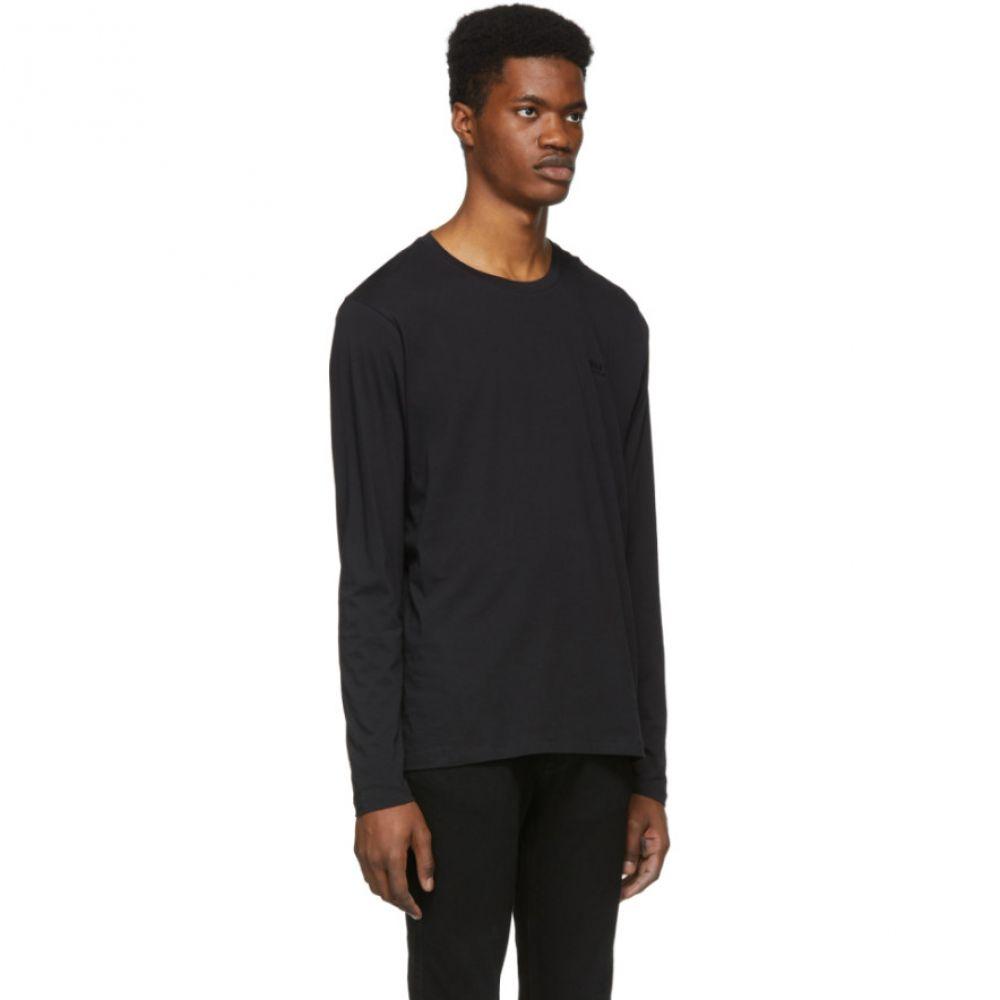 ヒューゴ ボス Hugo メンズ トップス 長袖Tシャツ【Black Regular Fit Long Sleeve T-Shirt】