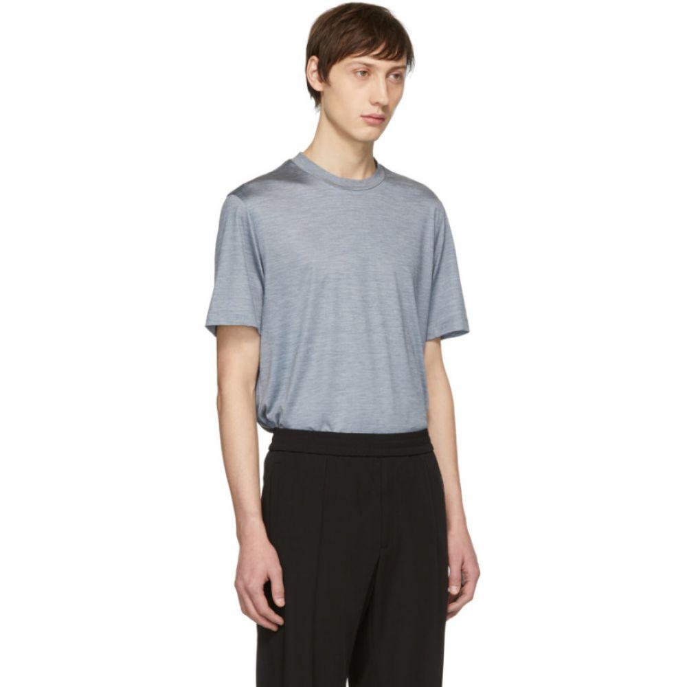 ブリオーニ Brioni メンズ トップス Tシャツ【Blue Silk T-Shirt】