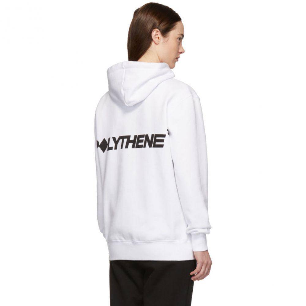ポリシーン オプティクス Polythene* Optics レディース トップス パーカー【White Vertical Hoodie】