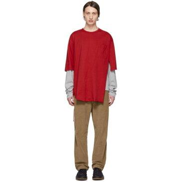マルニ Marni メンズ トップス Tシャツ【Red & Grey Layered T-Shirt】