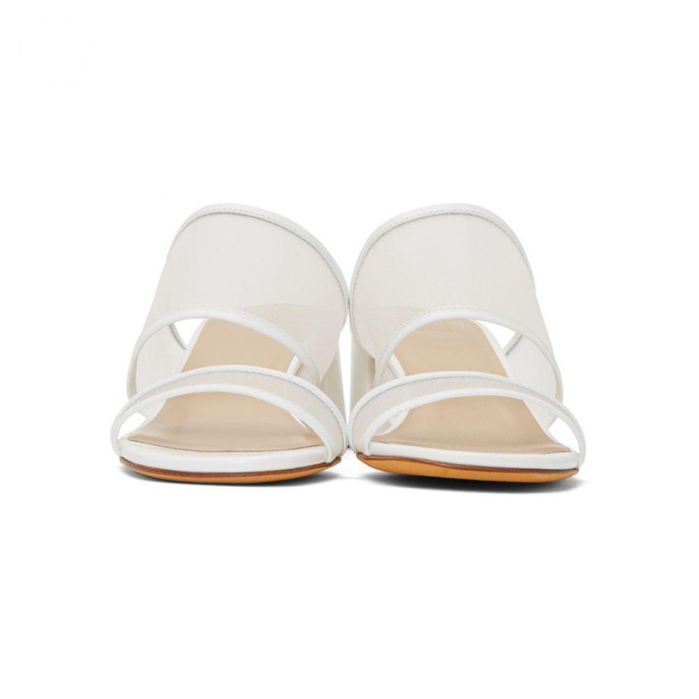 マリアム ナッシアー ザデー Maryam Nassir Zadeh レディース シューズ・靴 サンダル・ミュール【White Mesh Martina Sandals】
