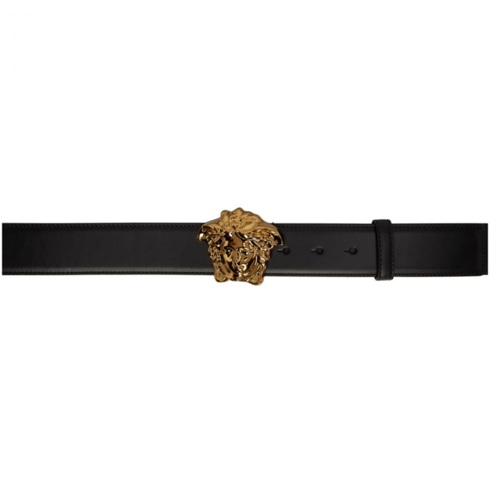 ヴェルサーチ Versace メンズ ベルト【Black & Gold Medusa Belt】